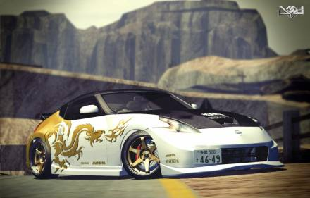 Paint Job for Nissan 370Z Dragon